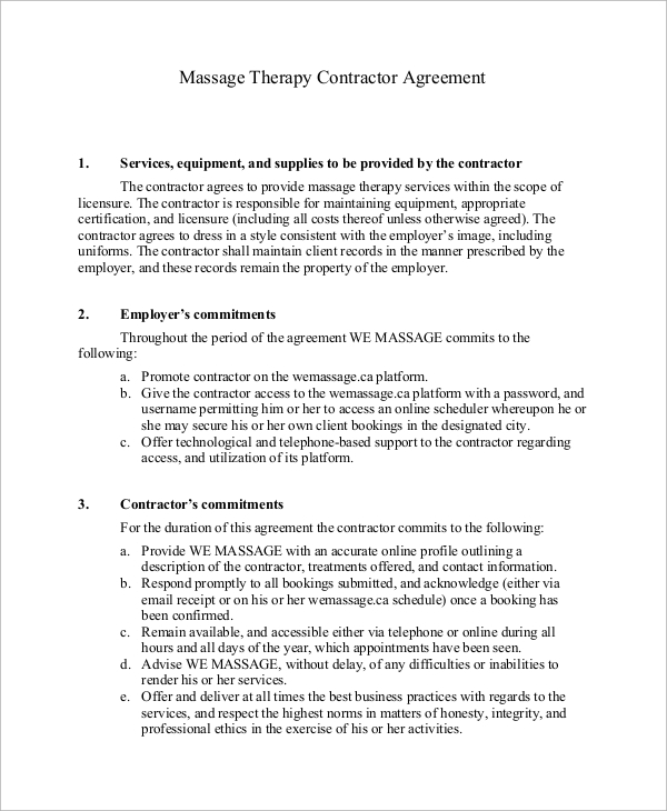 examples of freelance agreement contract document