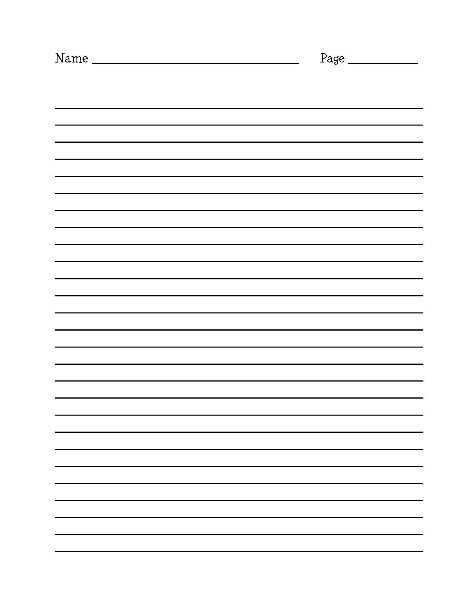 primary writing paper word document