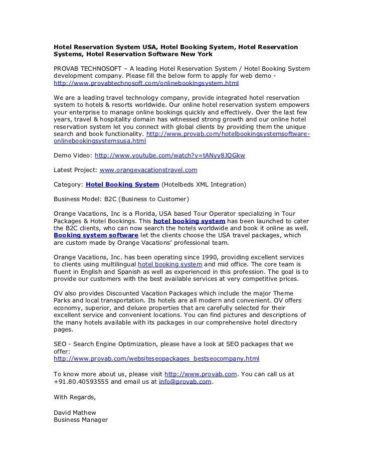 hotel reservation system documentation