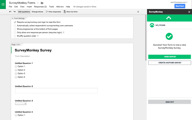 how to get survey in document form surveymonkey