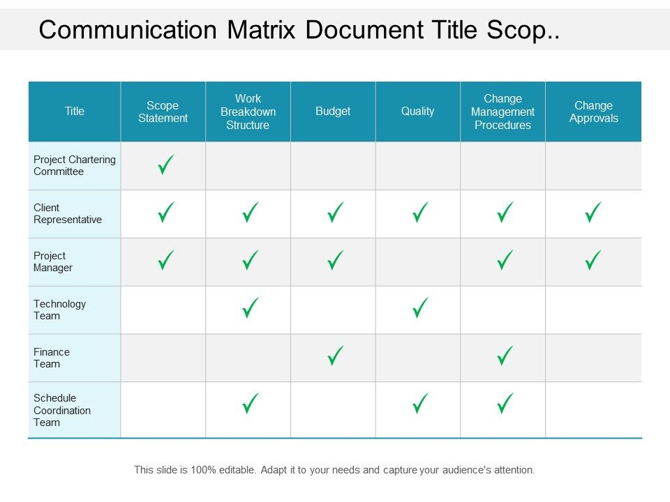 document and confirm the scope