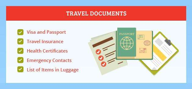 holiday visa document check list