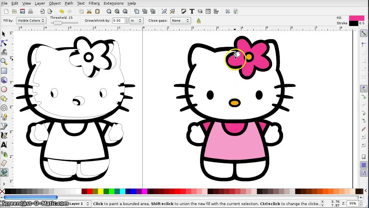 how to turn a document into paint