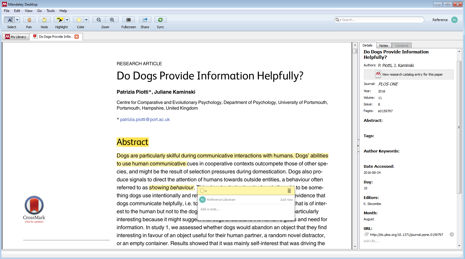 document viewer allows you to highlight
