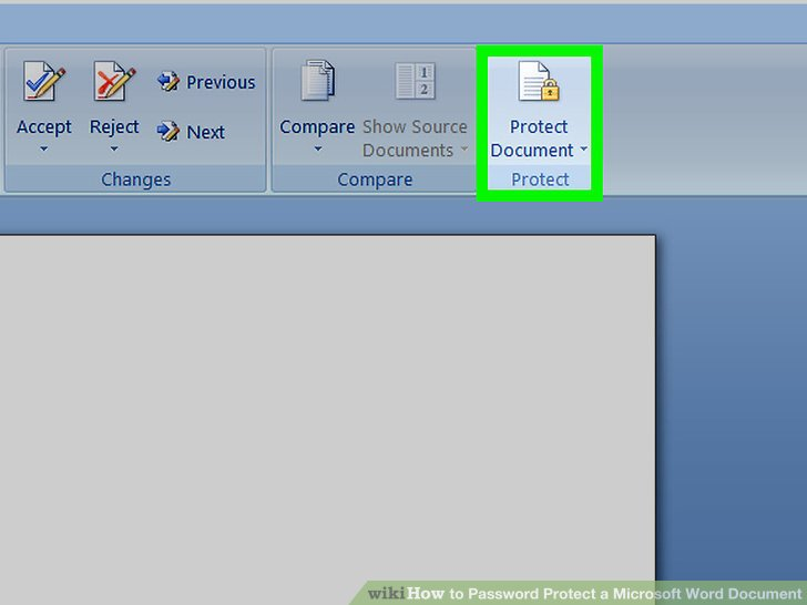 password protect word document 2013