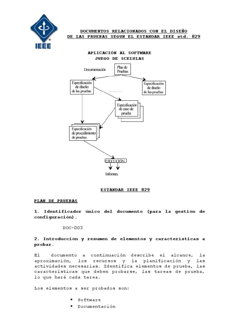 ieee 829 test plan documentation standard pdf