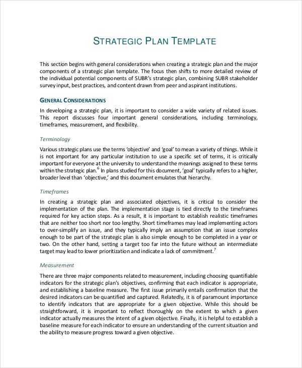 sample it strategic plan document