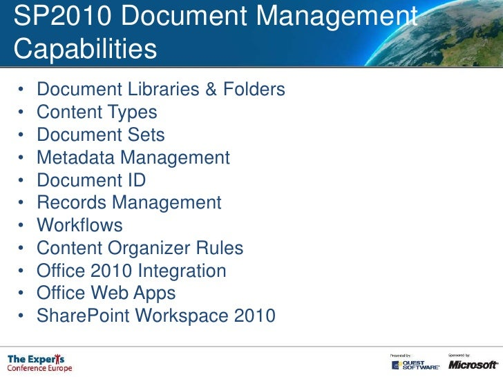 sharepoint 2010 as a document management system