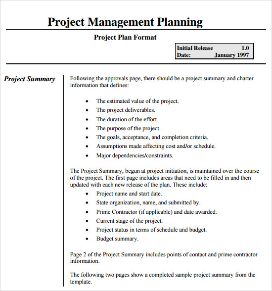 real example of project documentation