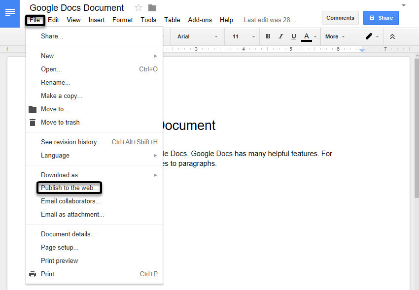 how to make a google drive document