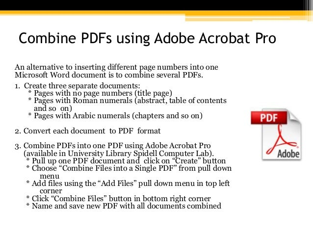 combine two pdf pages into one document