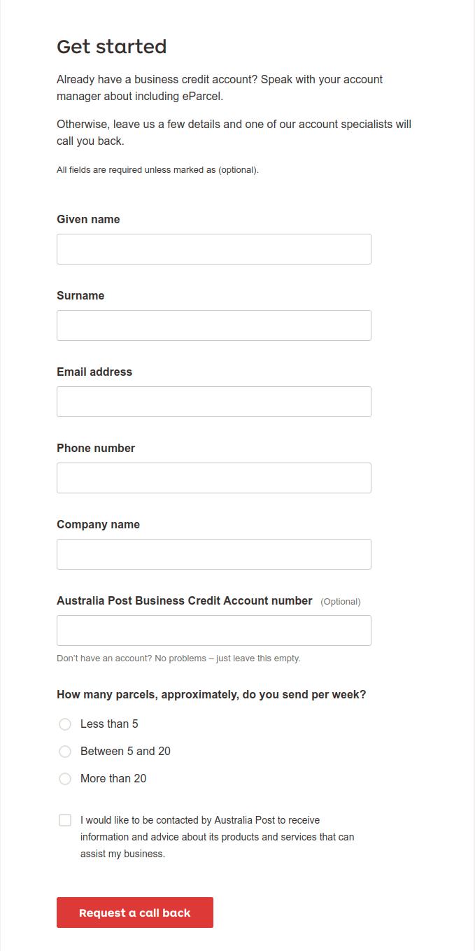 australia post api documentation eparcel