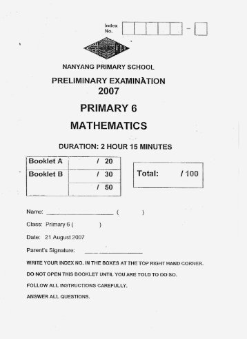 benchmarks for primary assessments document