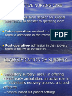 recommended practices documentation of perioperative nursing care