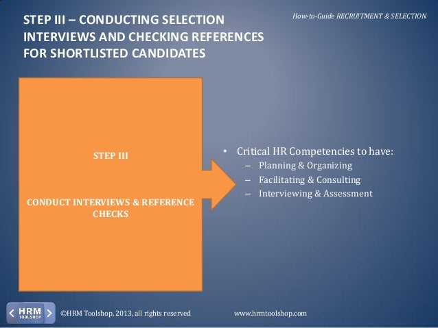 who created recruitment and selection documentation