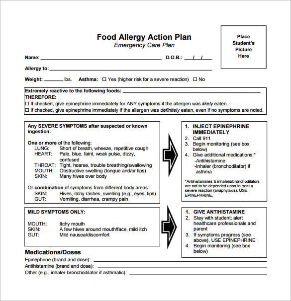 emergency health care plan document
