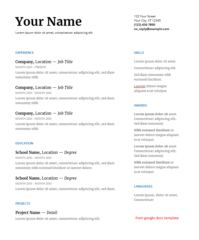 word document 2 column format