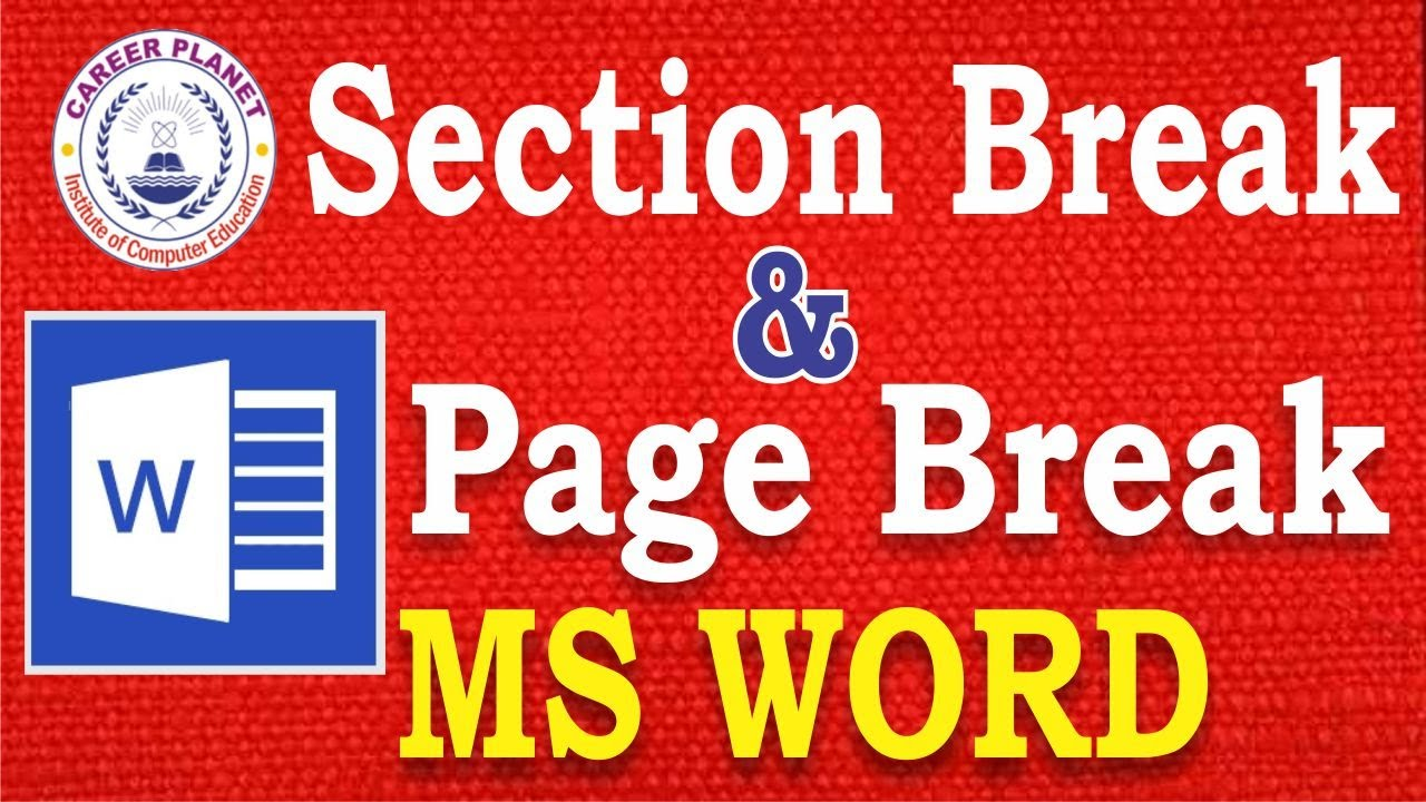 remove section break in word document
