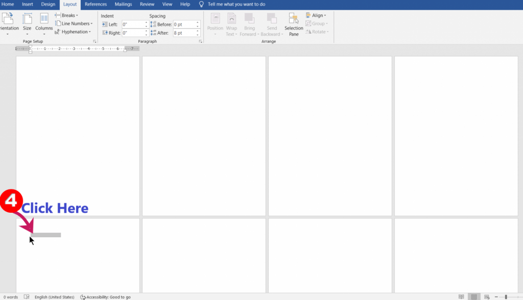 how many words in a word document page