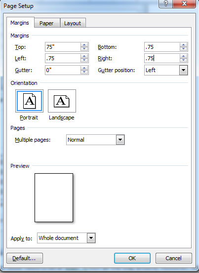 how to change word document to a3