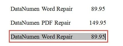 how to chenge quick part from word document