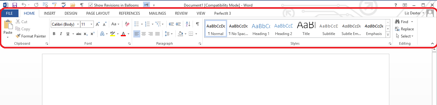 how to delete a header ribbon in a word document
