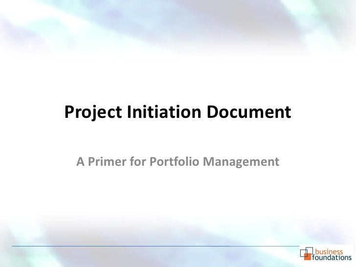 how to write a project initiation document