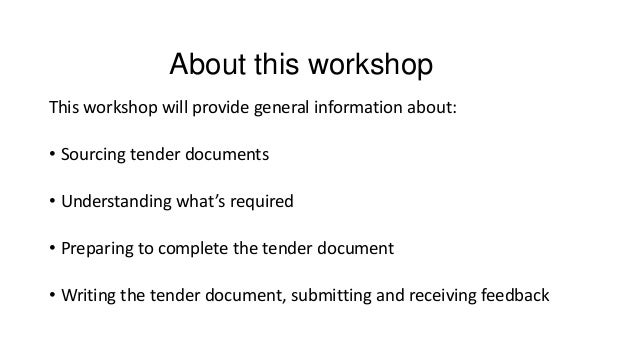 how to write a request for tender document