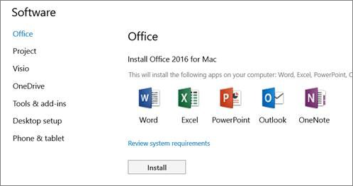 microsoft document connection download mac office 2016