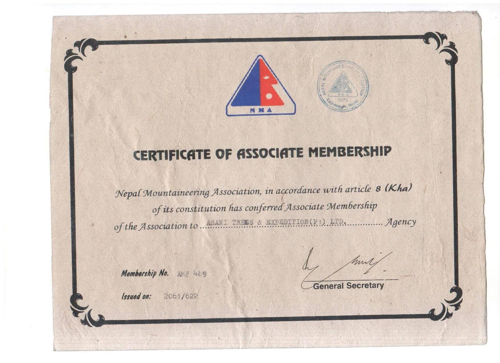 president of organizations certifies document