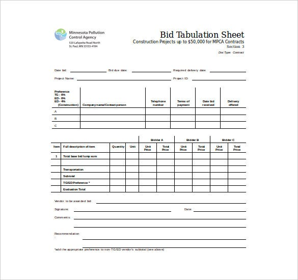 tender document template for bmd constructions