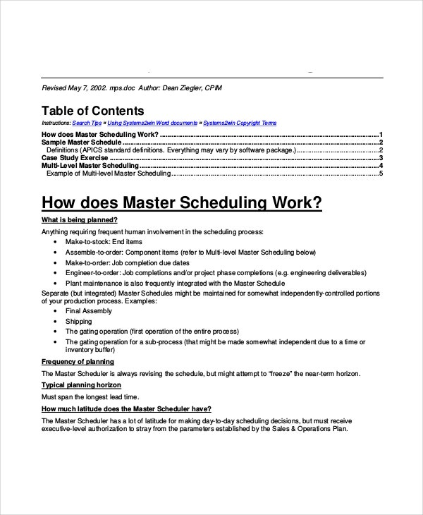 what is a master document in word