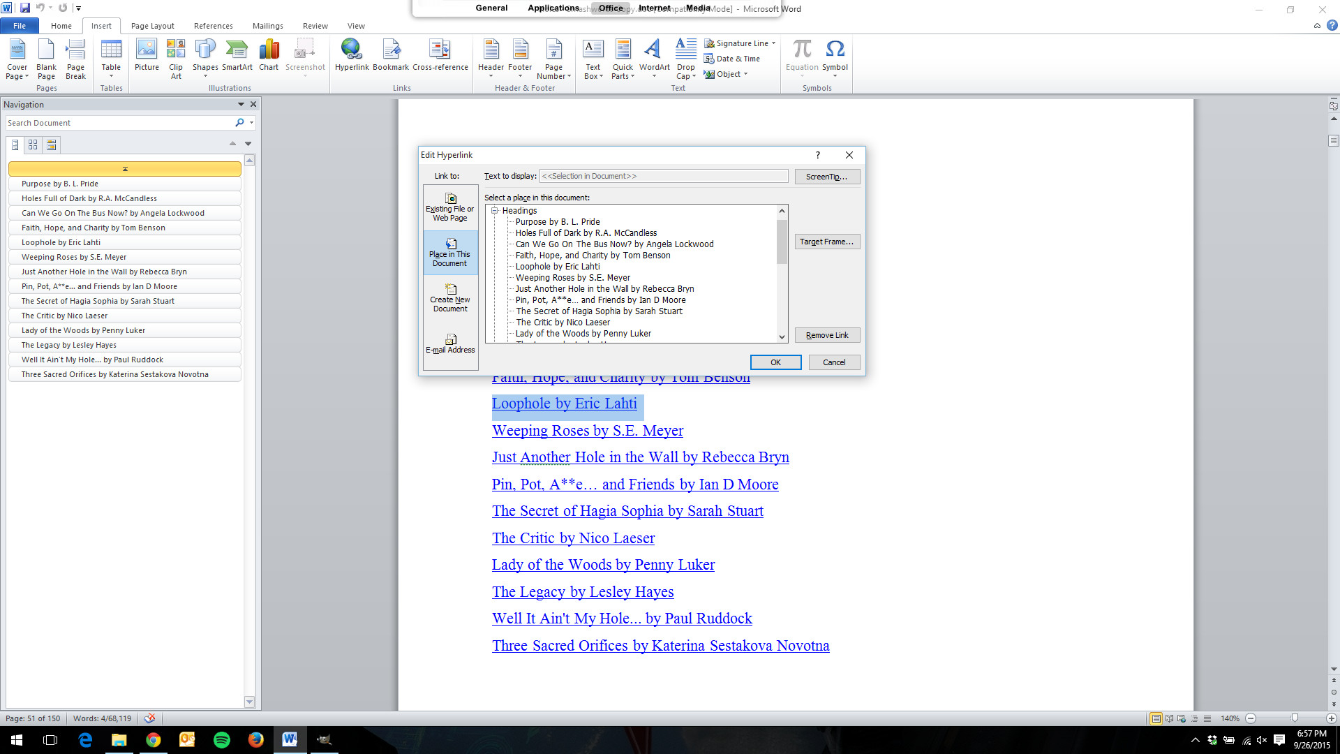 word document how to make a hyperlink